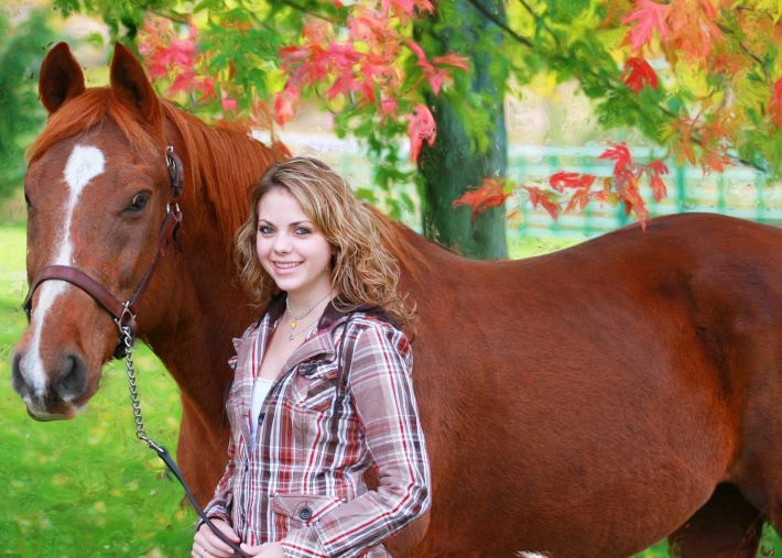 Girls and horse_36