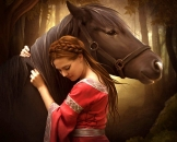 Girls and horse_28